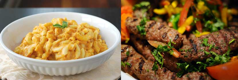 Macaroni with Cheese Sauce and Kofta.jpg