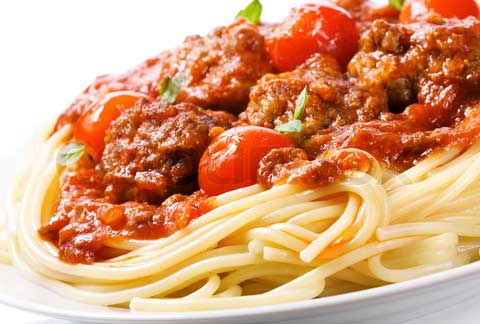 Macaroni with Tomato Sauce and Meat Balls.jpg